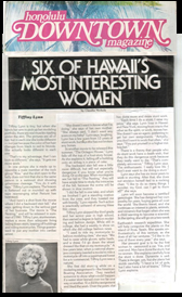 Six of Hawaii Most Interesting Women \ Honolulu Downtown